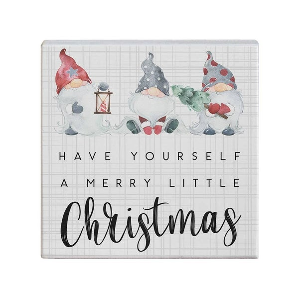 Merry Little Christmas Sign - 5 x 5 Square