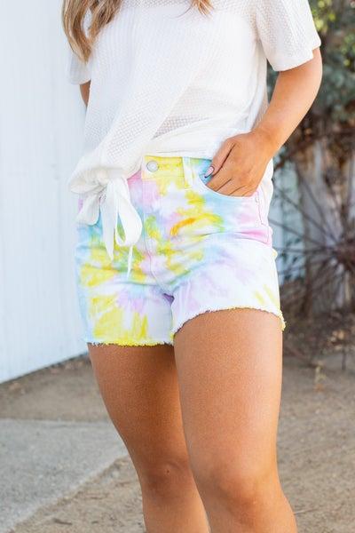 Sherbet Swirl Judy Blue Shorts