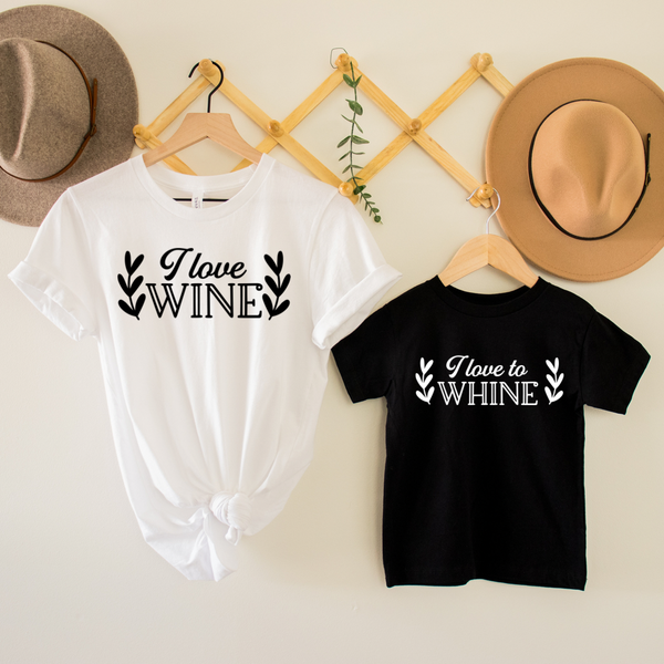 Need Wine / Love To Whine Mommy & Me Graphic Tee