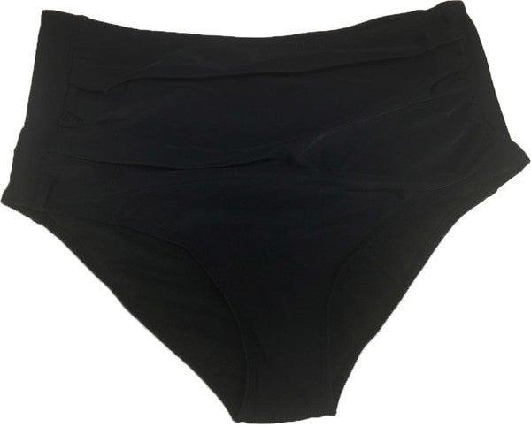 BAREFOOT - Women's Black Midi Ruched Bottom