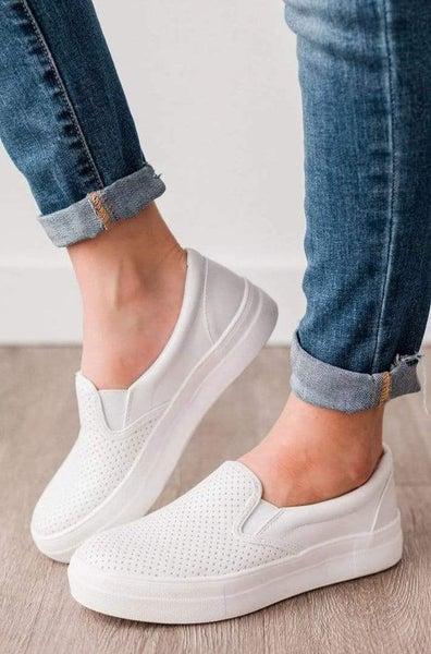 Slip Into Style Slip On Sneakers - White