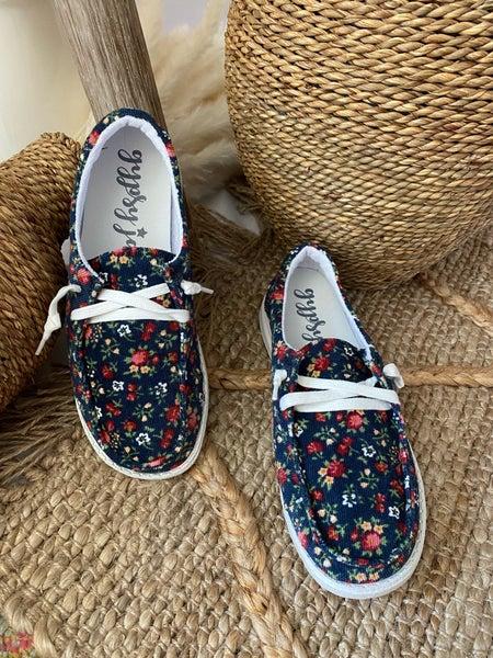 Gypsy Jazz Blue Floral Edison Sneaker