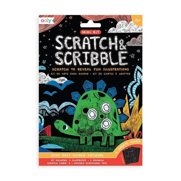 Mini Scratch & Scribble Art Kit - 2 Themes