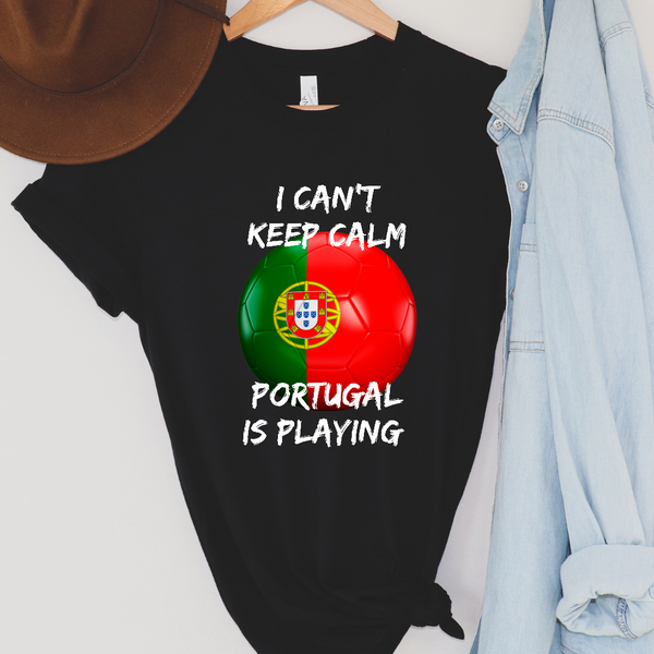 I Can't Keep Calm - Portugal Soccer - Kids Graphic Tee