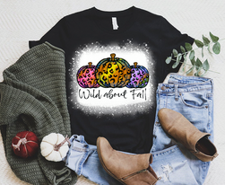 Wild About Fall / Pumpkins Graphic Tee