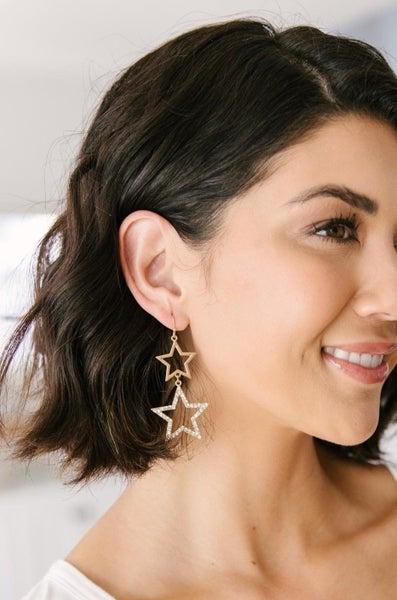 Glimmering Star Earrings