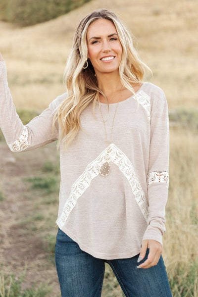 Wrap Me In Lace Top