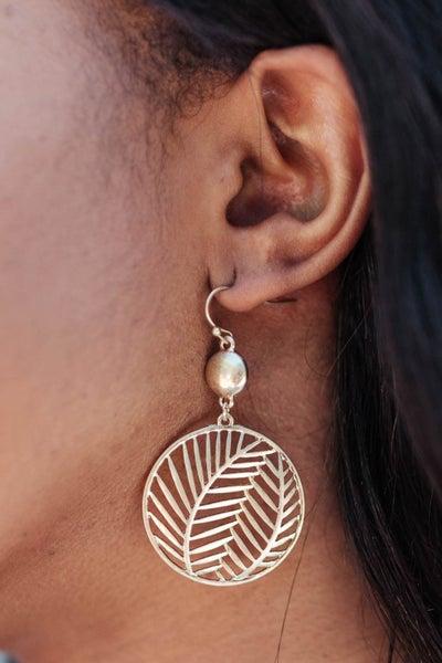 Golden Palm Earrings