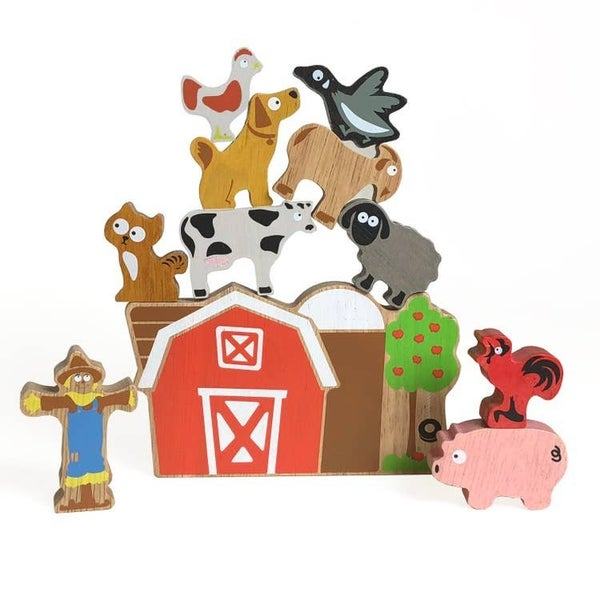 Balance Barn Game - Stacking Game & Farm Playset