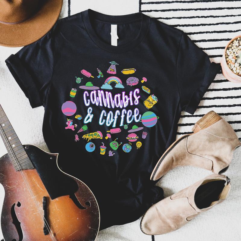 Cannabis & Coffee Graphic Tee