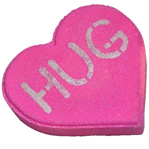 Convo Heart Bubble Boss Bath Bomb - XOXO; HUG; LOVE