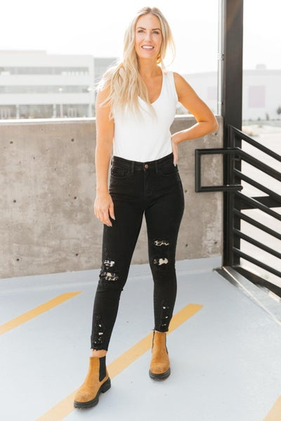 Into The Wild Distressed Skinny Jeans