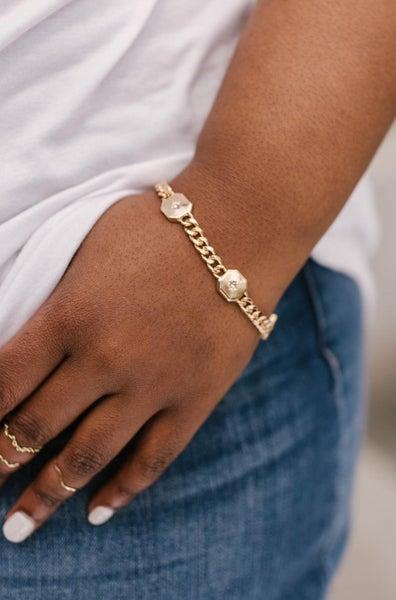 Chunky North Star Stud Bracelet
