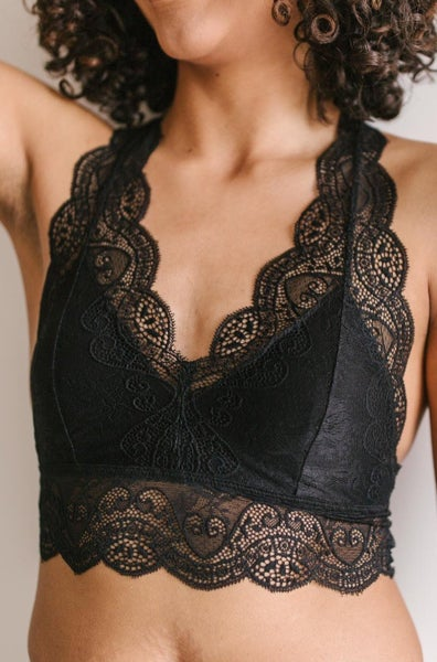 Lacey Lover Bralette in Black