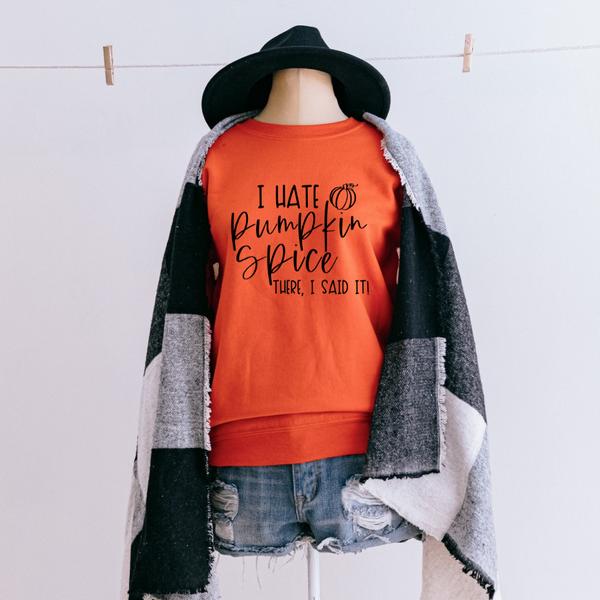 I Hate Pumpkin Spice Graphic Pullover