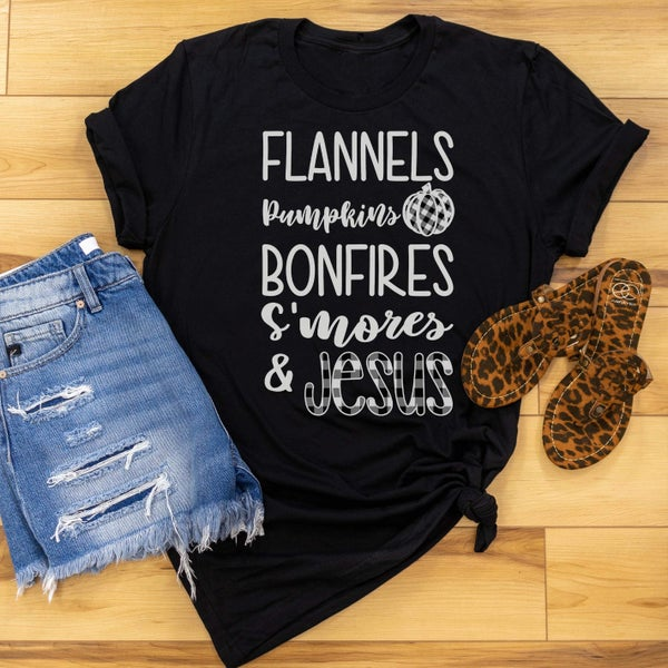 Bonfires & Jesus Graphic Tee