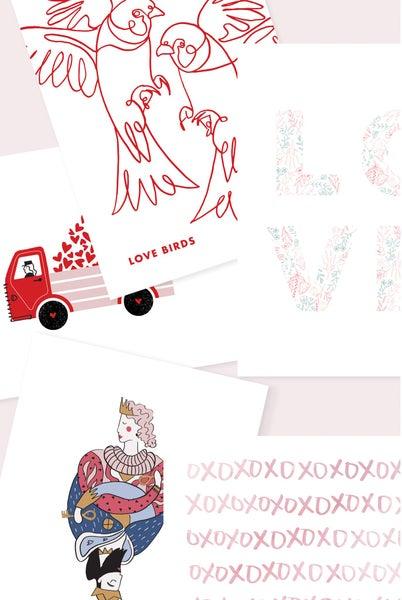 Valentines Day Cards (Set of 5 w/ Envelopes)