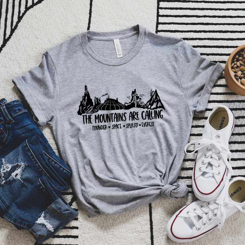 The Mountains Are Calling Magical World Graphic Tee