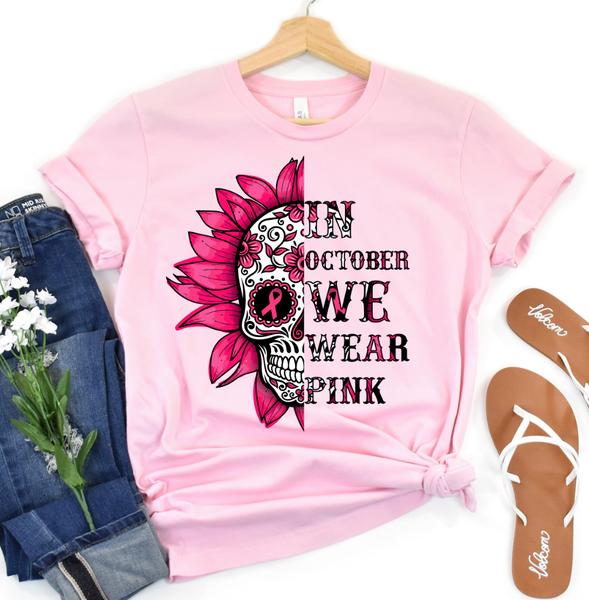 In October We Wear Pink Graphic Tee