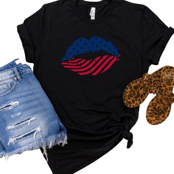 USA Kiss Graphic Tee