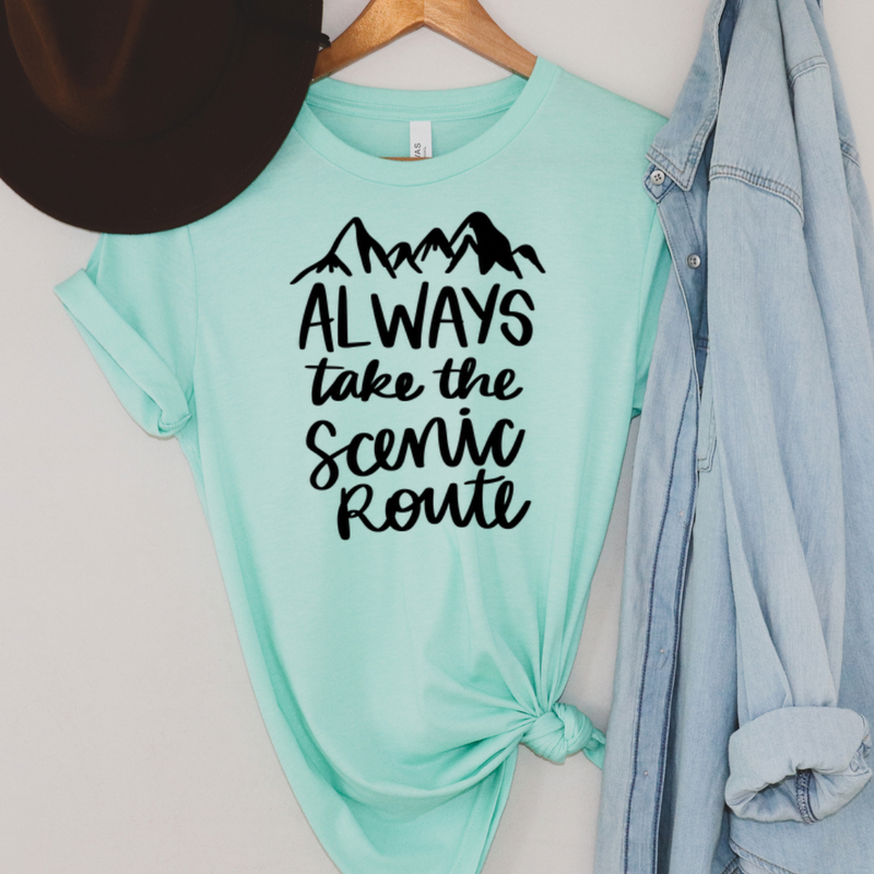 Always Take the Scenic Route Graphic Tee
