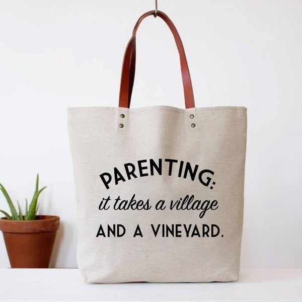 Parenting Vineyard Tote Bag