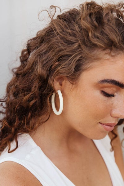 Bold Hoops in White