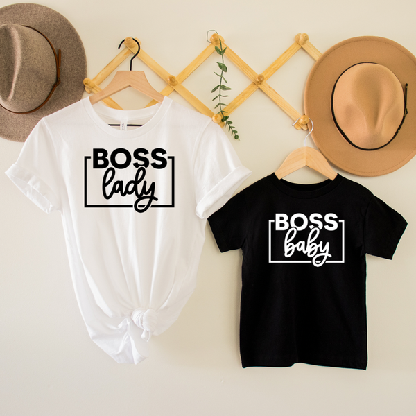Boss Lady / Boss Baby Mommy & Me Graphic Tee