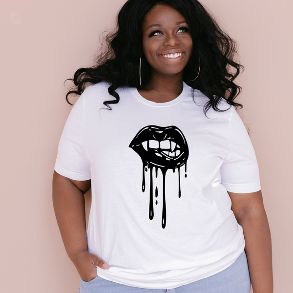 Vampire Mouth Graphic Tee