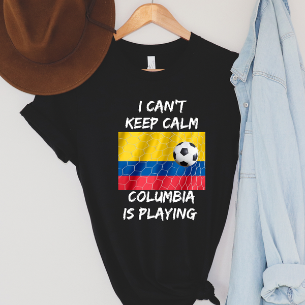 I Can't Keep Calm - Columbia Soccer Graphic Tee