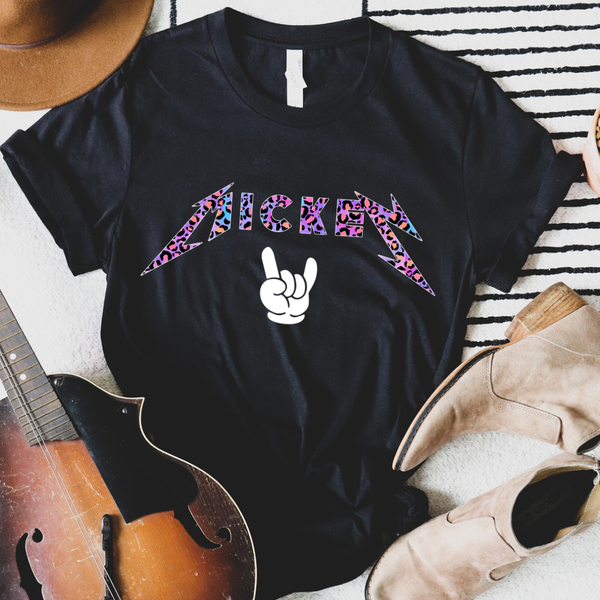 Leopard Mouse Rock N Roll Graphic Tee