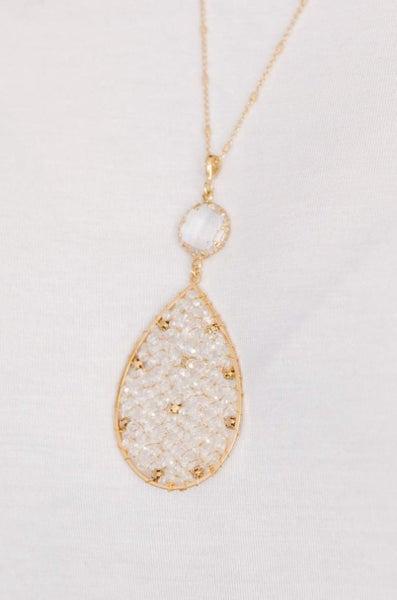 Shimmering Teardrop Necklace