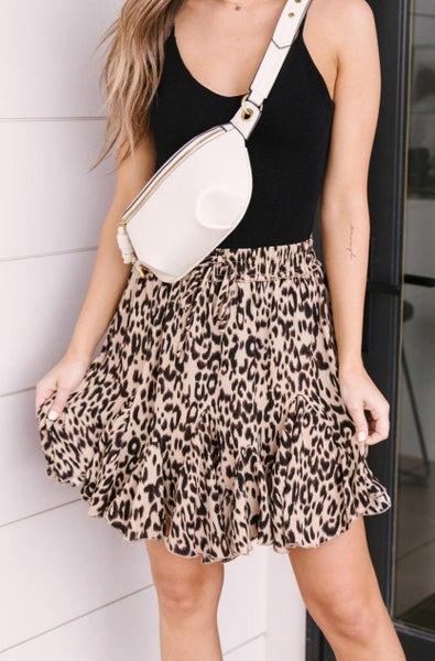 Playful Animal Mini Skirt