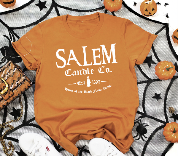 Salem Candle Co. in Orange Graphic Tee