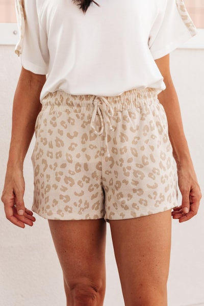 Wild Spots Shorts in Taupe