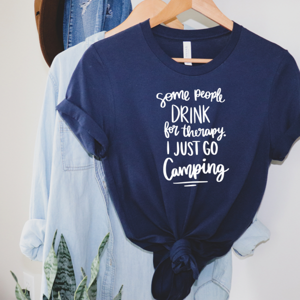 Some People Drink Some People Camp Graphic Tee