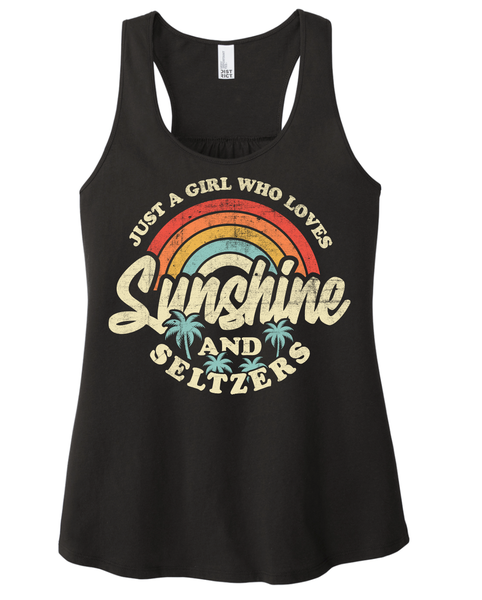 Just a Girl Who Loves Sunshine & Seltzers Graphic Tank
