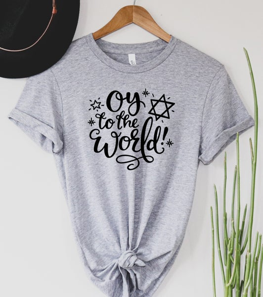 Oy to the World Graphic Tee