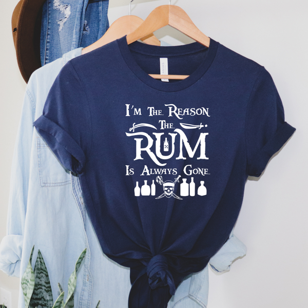 Rum Is Always Gone (Pirates of the Caribbean) Disney Graphic Tee