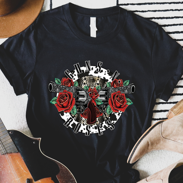Guns & Roses Rock N Roll Graphic Tee