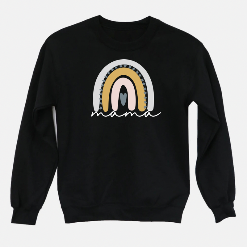 Mama Neutral Rainbow Graphic Tee Pullover