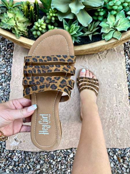 Corkys Sandra Sandal in Leopard