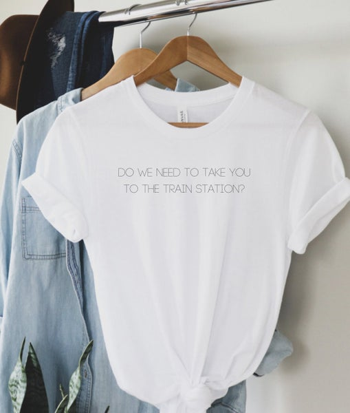 Take You To The Train Station Graphic Tee
