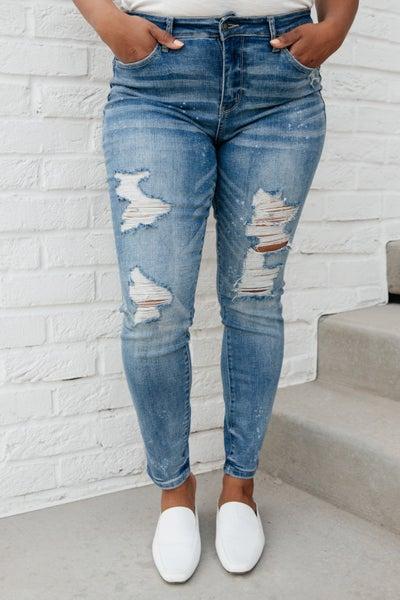 Ocean Side Distressed Skinny Jeans