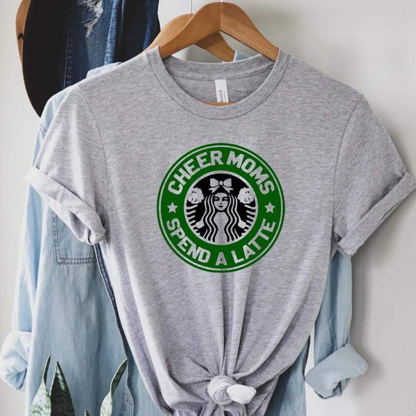 Cheer Moms Spend A Latte Graphic Tee
