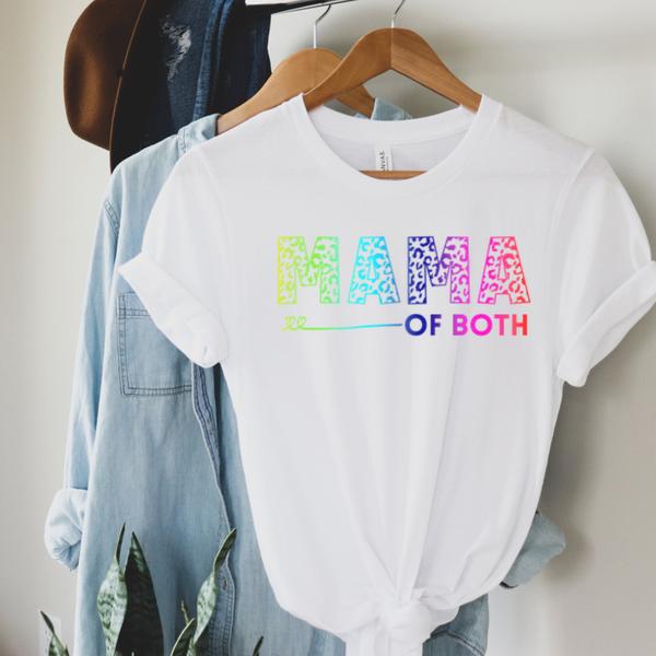 Mama of Both Rainbow Graphic Tee