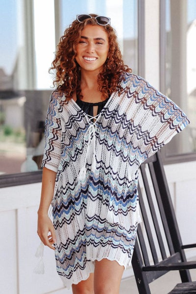 Under Cover Swim Cover-up In Blue