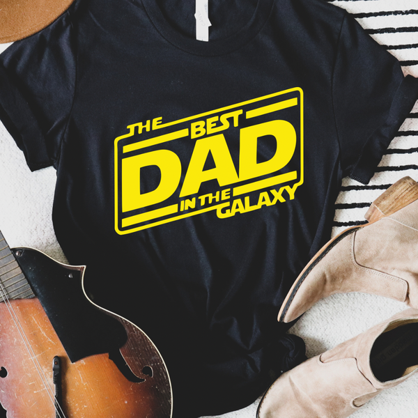 Best Dad in the Galaxy Graphic Tee