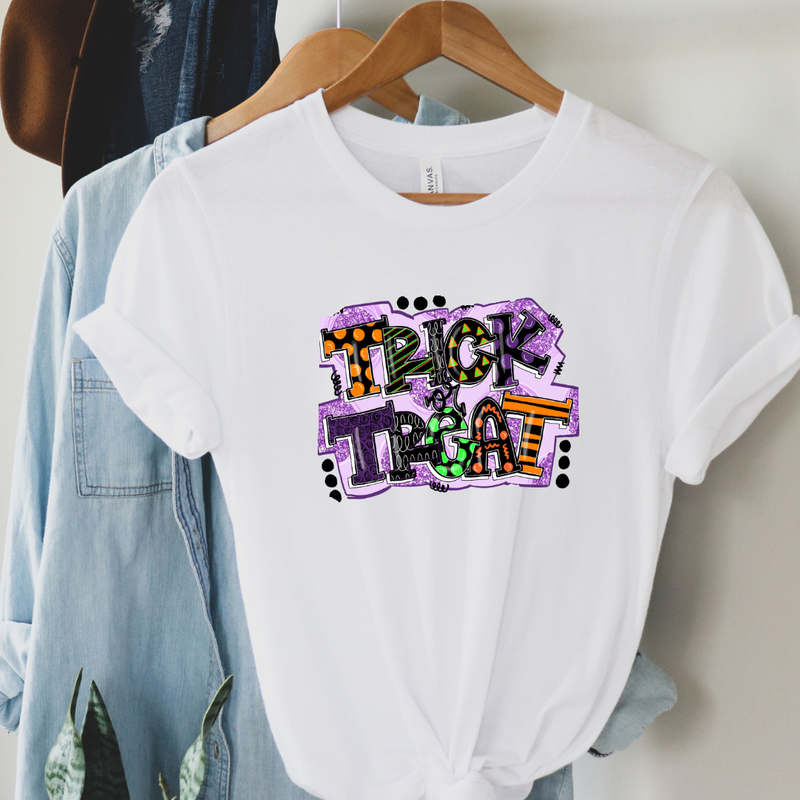 Colorful Trick or Treat Graphic Tee
