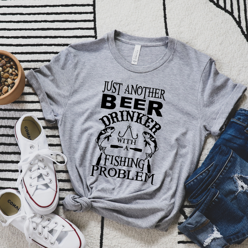 Just Another Beer Drinker with a Fishing Problem Graphic Tee